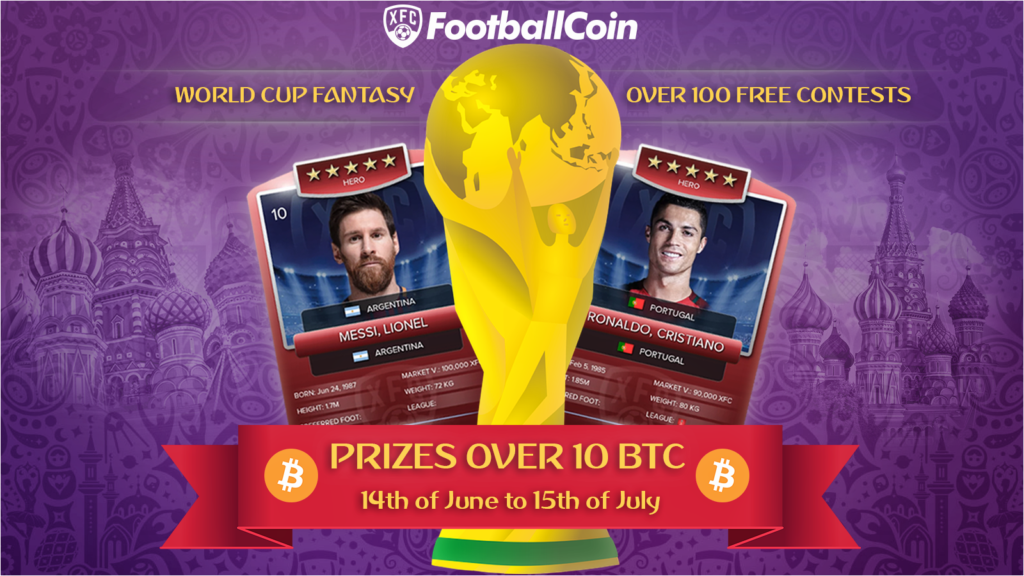 FootballCoin getting ready for the World Cup 2018 tournament